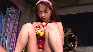 Sana Anzyu, obedient bimbo, gets jizz on face