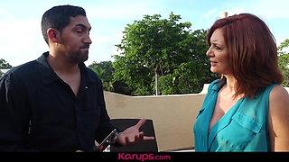 Karups -  Mature Redhead Andi James Fucks Repair Man On Roof
