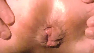 my wife force to fart and push her asshole