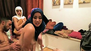 Home bathroom swingers group Hot arab girls try foursome