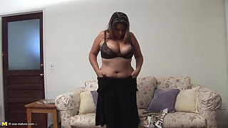 Chubby Angie C is a horny housewife in need of an orgasm