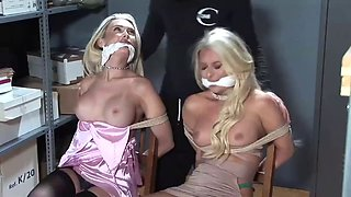 two sexy anglo saxon agents tied up and gagged