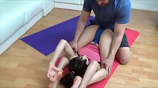Yoga Practice With Teen Step Sister - Meko Lilly