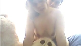 Exotic exclusive blowjob, small tits, brunette porn video