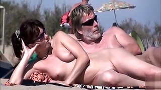 Couples get naughty at the nude beach