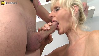 Horny Blonde Housewife Fucking And Sucking Like A Maniac - MatureNL