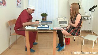 Beautiful lady gets fucked by a doctor during a gyo exam