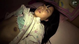 Sleeping Asian teen gets her tight cunt fucked deep in POV