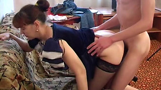 Russian Mom Amazing Body Fucked By Young Lover Big Cock
