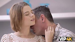 Mature Dad Helps Busty Teen To Relax Having Passionate Sex With Marina Visconti