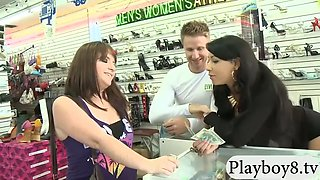 random girls pursuaded to flash nice boobs for money