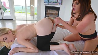 A chubby mom is in love with her stepdaughter and seduce her for a lovely lesbian affair