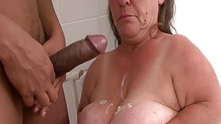 Hot mature midget big cock fucked