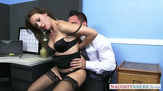 Young boss enjoys licking anus and pussy of naughty secretary