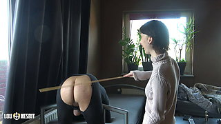 Spanking his ass