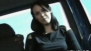 Weenie addicted floozy likes her fucking trip in a bang bus