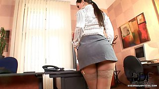 Eve Angel Plays Sexy Secretary