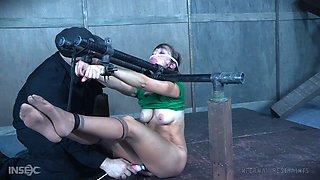 MILF slave Alana Cruise gagged, tied up and abused hardcore