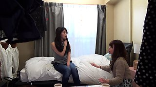 Two alluring Japanese girls play out their lesbian fantasy