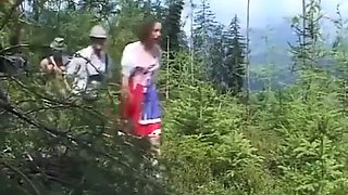 german teen brutal banged at the mountains