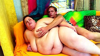 Extreme Fat and Ugly Teen get Defloration Sex by Small Guy