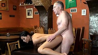Old mature masturbating and daddy playfellow' friend's daugh