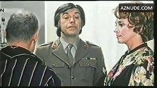 Italian actress in 1976 movie medical exam blue panty