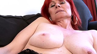 Redhead Granny Goes Full Interracial Experience With BBC