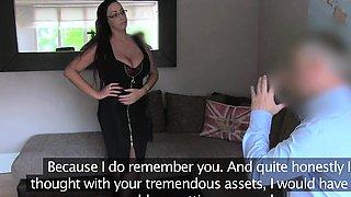 FakeAgentUK Massive tits gives agent a shot at anal