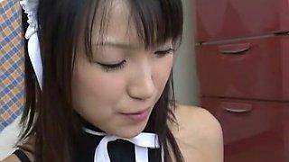 Horny Japanese girl in Exotic Fetish, Maid JAV video