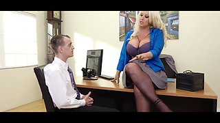Aggressive MILF Has Her Way with Nervous Employee 720p HD