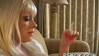 oral pleasing with a smoke film feature 1