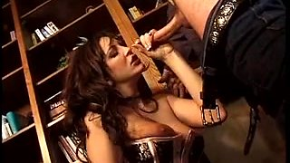 An office hotty enticed by her boss