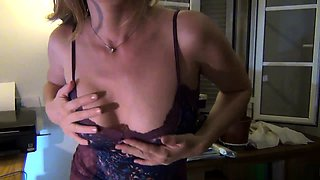 Stacked brunette milks her nipples and blows a dick in POV