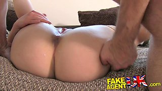FakeAgentUK: Amazing deep throat skills from shy petite amateur