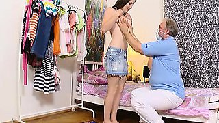 Marina is a young and sexy virgin, and she and her man are