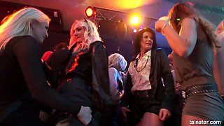 Lustful Czech nympho Nicole Vice goes wild during orgy party in the club