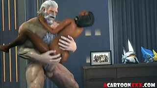 Overwatch 3D babes titjob and doggystyle sex