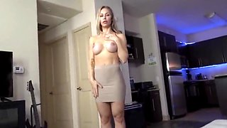 Son look mom nude and fuck her cum shot on her face