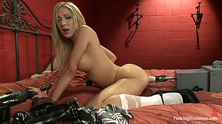 Fabulous anal, fetish adult video with horny pornstar Amy Brooke from Fuckingmachines
