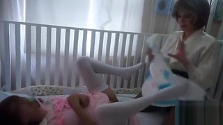 Mommy toys teen roleplay Daughter in diapers