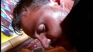 Wild slave girl licks her masters butt