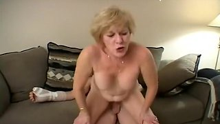 Diane Seduces Young Guy With Her Mouth