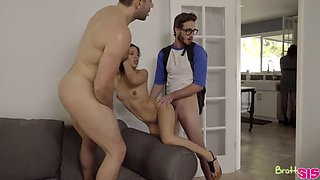 family threesome dad daughter brother