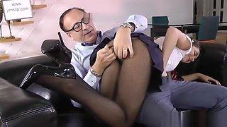 Schoolgirl Rides and Sucks Cum Out of Dick