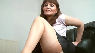 A sweetheart Upskirt  Nylon stocking high heels Teasing (MrNo)