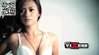 Filipina Premier Vixens sorority girl strip!
