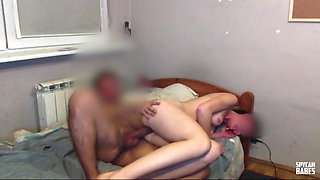 Daddy has nice time with stepdaughter on hidden camera