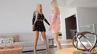 Bridgette B & Nina Elle & Victoria Steffanie in Fucked By Two Milfs - MomsLickTeens