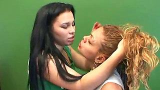 LESBIAN FORCED KISSING